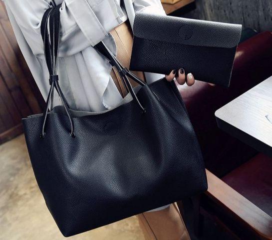 58a8da74ed81 Купить Сумка женская большая черная FM0569B по самой лучшей цене ...