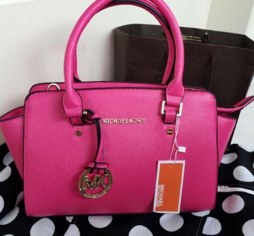 Женская сумка Michael Kors розовая реплика