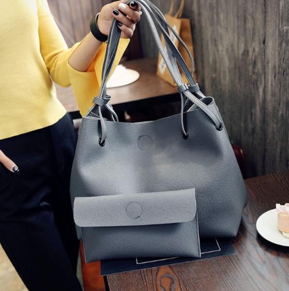 Женская сумка светло серая