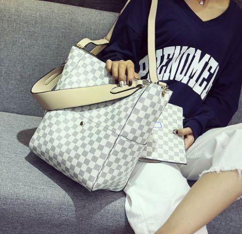Женская сумка светлый микс