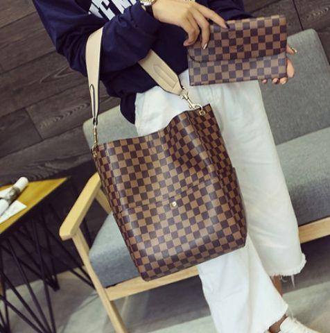 Женская сумка коричневый микс