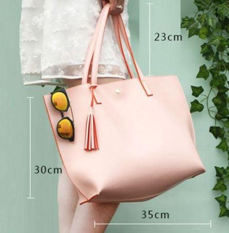 Женская сумка светло-розоая
