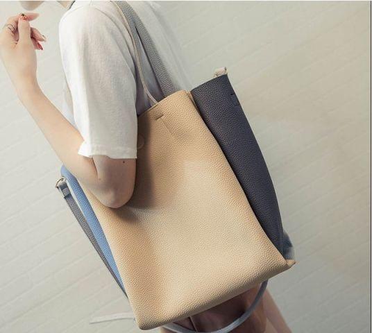 Женская сумка жёлтый с серым