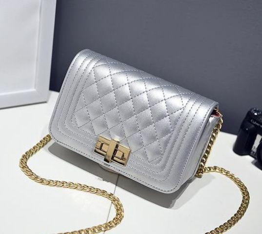 Женская сумка серебро