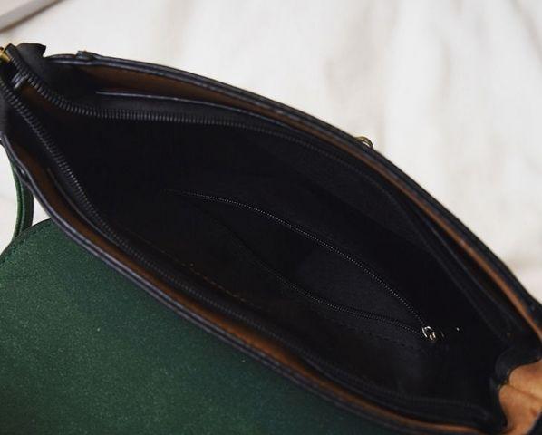 Женская сумка зелёный микс