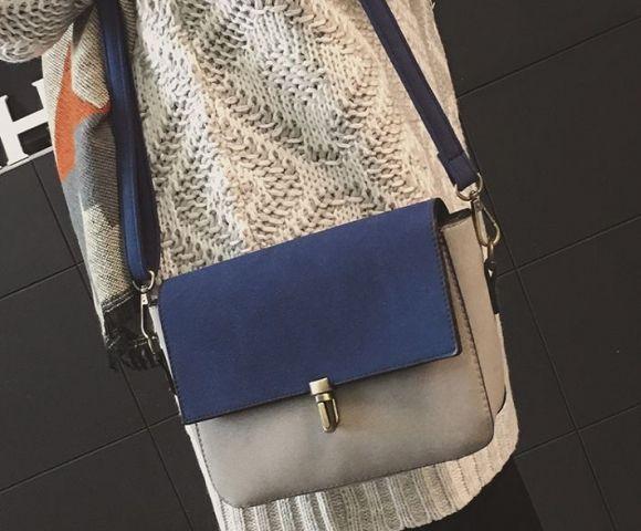 Женская сумка серый микс