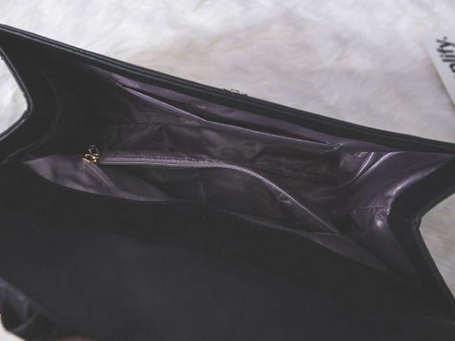 Сумка женская черная вишневая