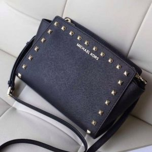 Женская сумка Michael Kors Selma Mini Black реплика