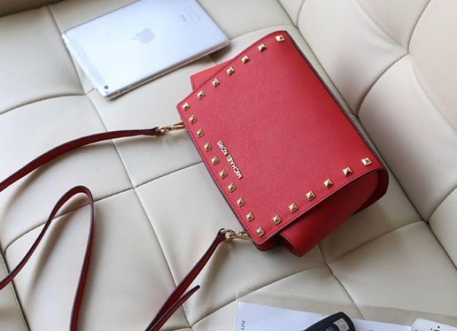 Женская сумка Michael Kors Selma Mini Red реплика