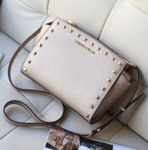 Женская сумка Michael Kors Selma Mini Gold реплика