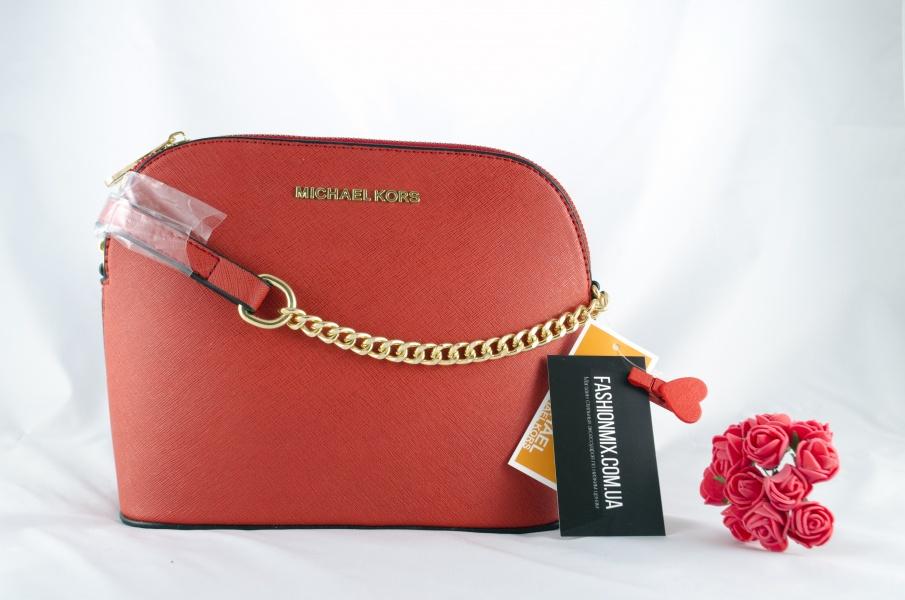 Женская сумка Michael Kors Cindy Crossbody Bag Red реплика