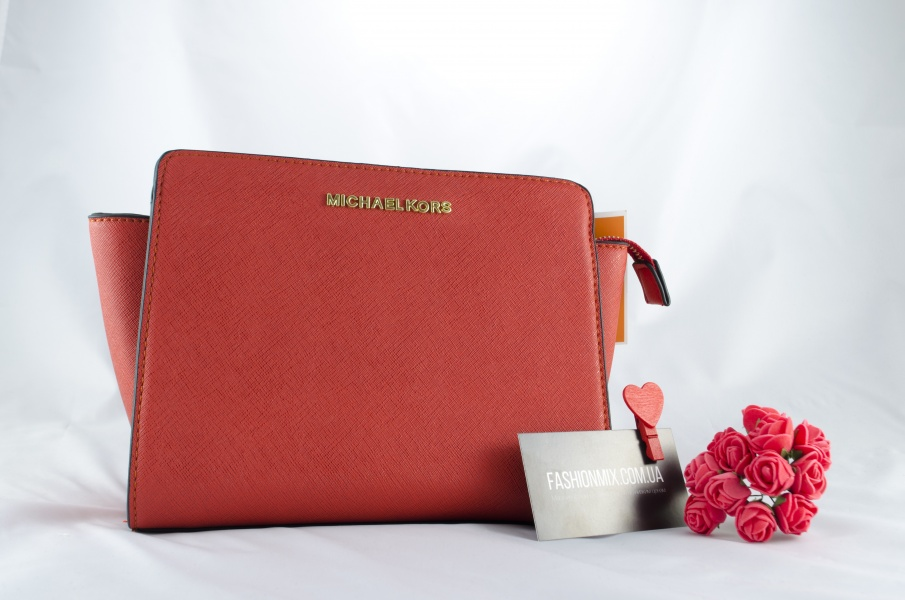 Женская сумка Michael Kors Selma Messenger Red реплика
