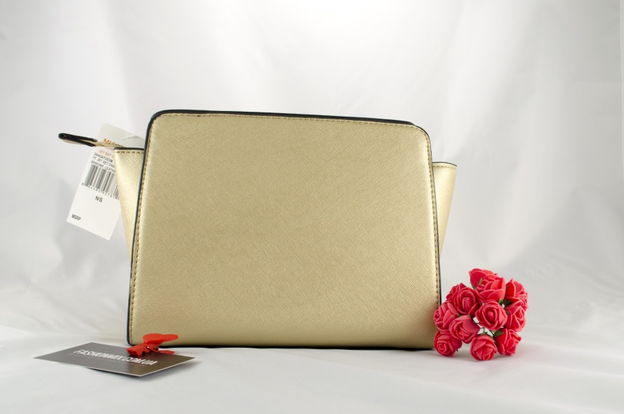 Женская сумка Michael Kors Selma Messenger Gold реплика