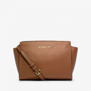Женская сумка Michael Kors Selma Messenger Brown реплика