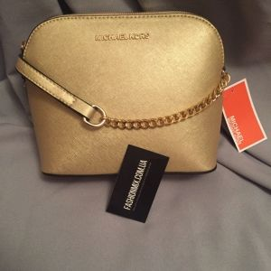 Женская сумка Michael Kors Cindy Crossbody Bag Gold реплика