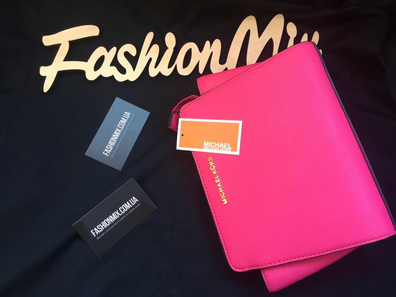 Женская сумка Michael Kors Selma Messenger Pink реплика