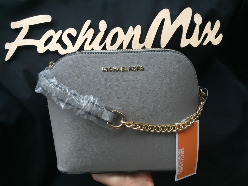 Женская сумка Michael Kors Cindy Crossbody Bag серая реплика