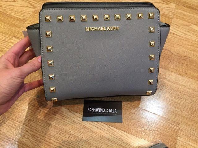 Женская сумка Michael Kors Selma Mini gray реплика