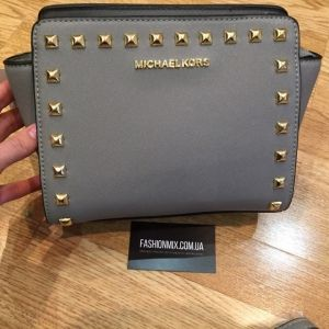 Женская сумка Michael Kors Selma Mini gray реплика