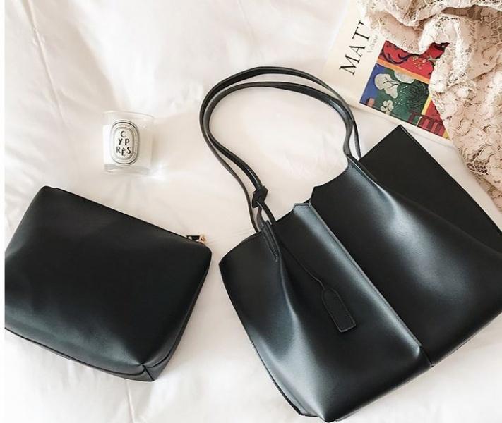 Большая женская сумка черная