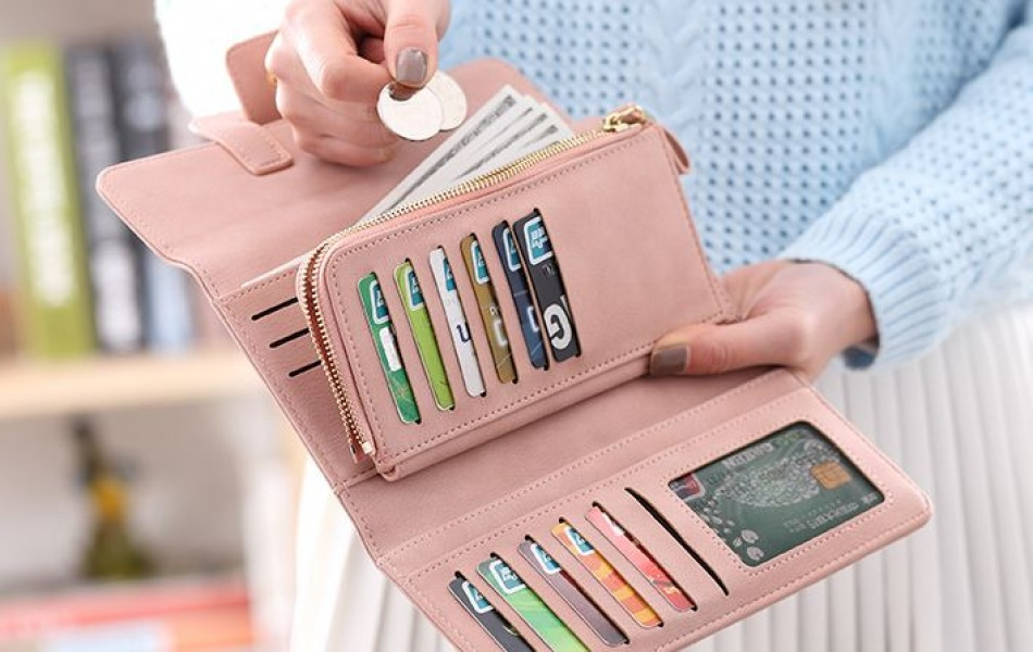 Женский кошелек нежно-розовый