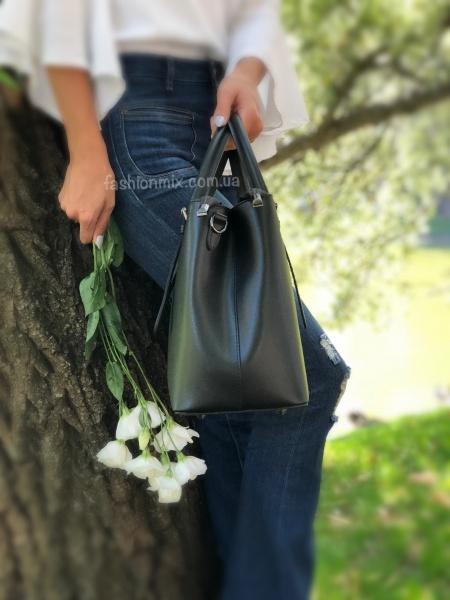 Кожаная черная сумка FM0784A