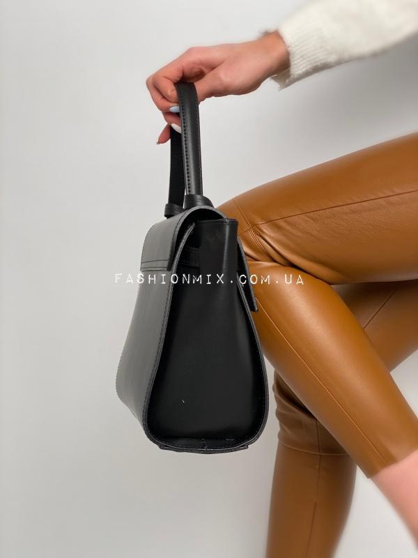 Сумка женская черная кожаная FM0778C