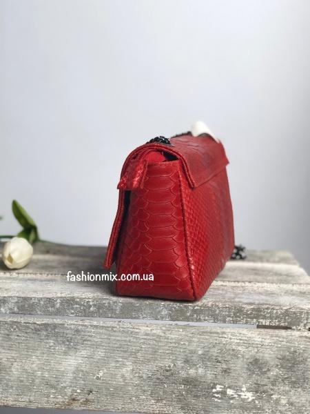 Сумка женская красная кожаная FM0803B