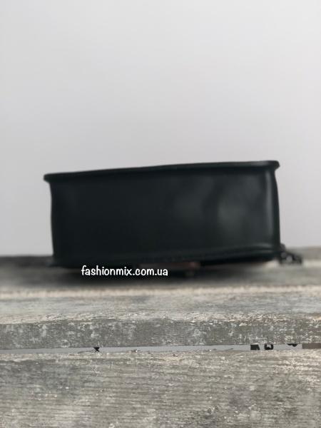 Сумка женская черная кожаная FM0804A