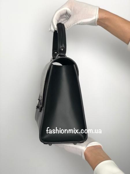 Сумка женская черная кожаная FM0809B