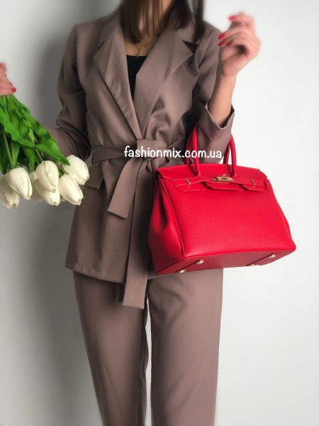 Сумка женская красная