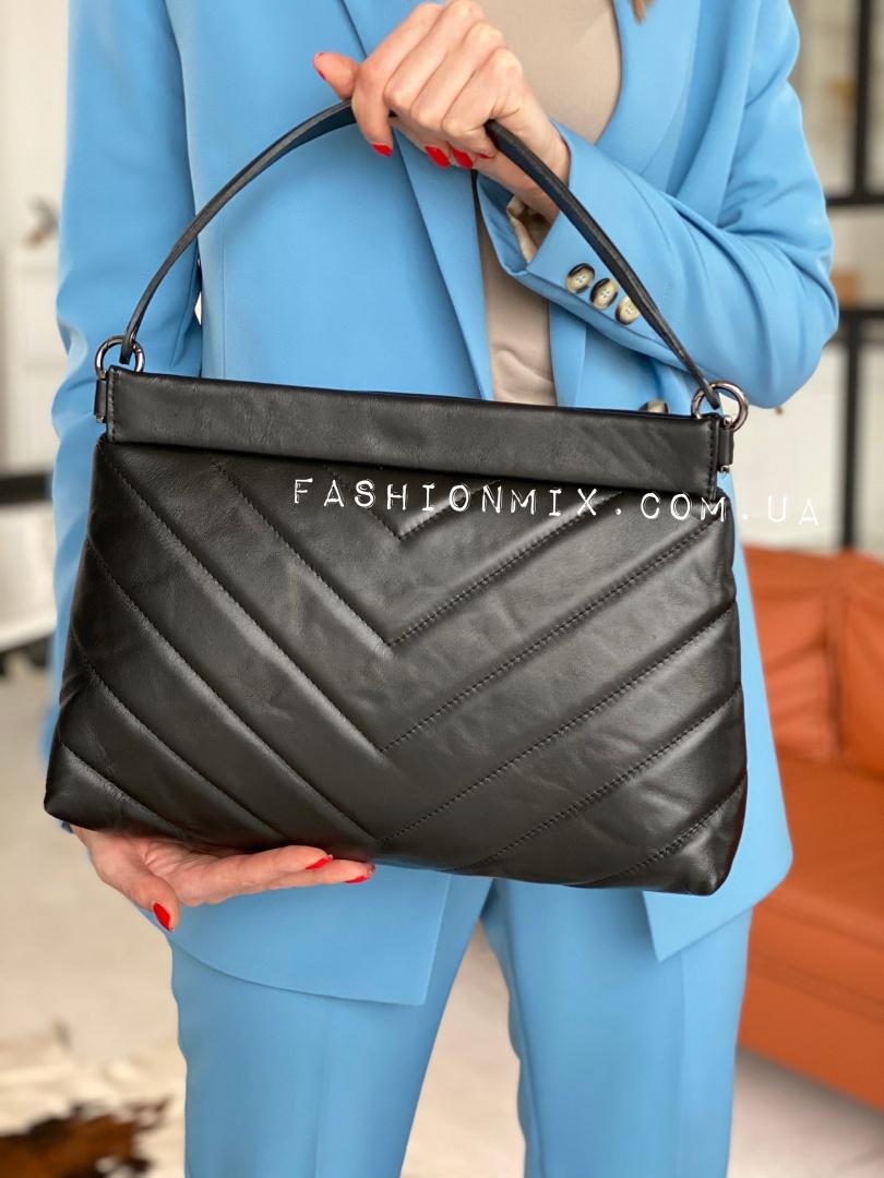 Женская кожаная сумка черная FM0823A