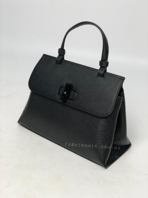 Сумка женская кожаная черная FM0834B