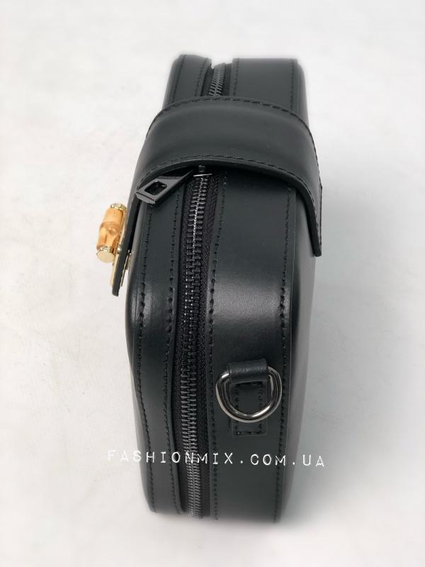 Сумка женская черная кожаная FM0836B