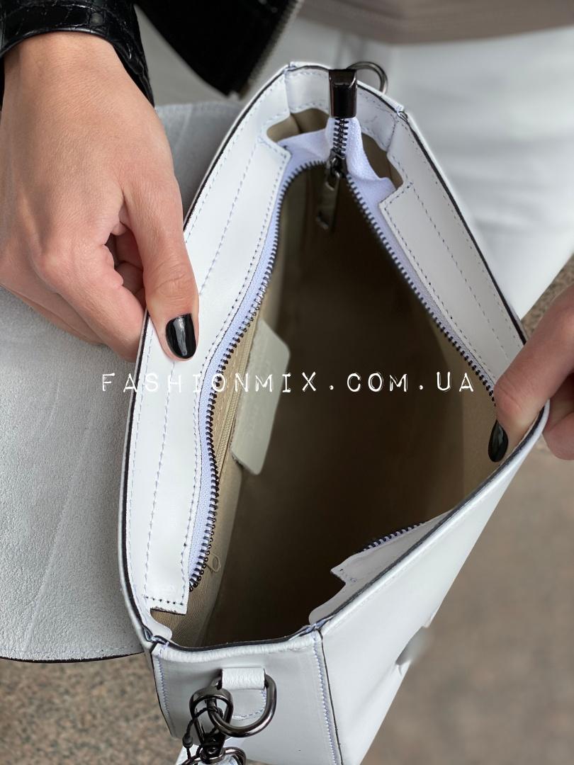 Сумка женская белая кожаная  FM0798Q